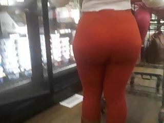 Thick orange tights 2...