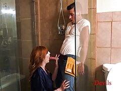 My Tall Ginger Wife Fucks The Plumber - Lauren Phillips