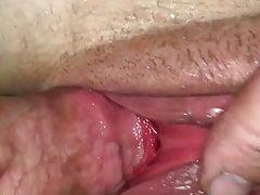 Swollen, soaking wet pussy get used