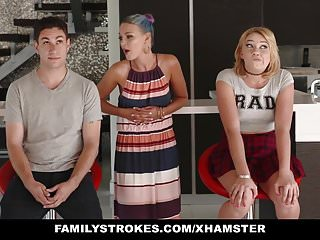 FamilyStrokes – Scavenger Hunt with sis turns sexual