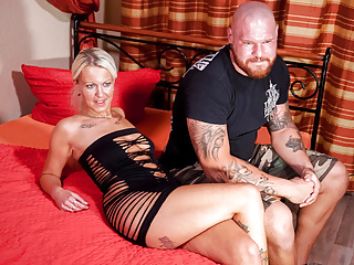 amateur euro - german tattoed couple are having sex on tapePorn Videos