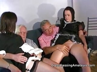 Crossdressing amateurs two dirty guy old...