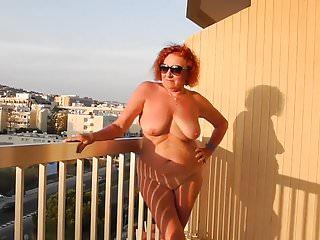 Auf den Balkon