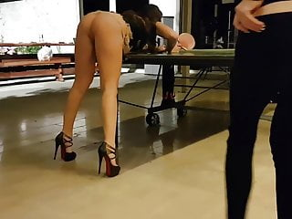 ping pong in high heels