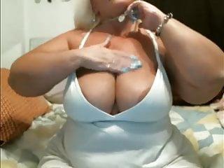 Blonde tits masturbates and cums...