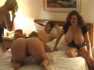 Older bbw group with young man