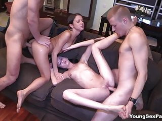 Parties perfect double date with swinger sex...