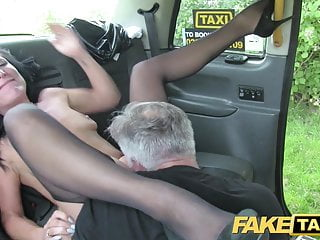 Pretend Taxi Intercourse mad mom likes to journey shaft in London taxi