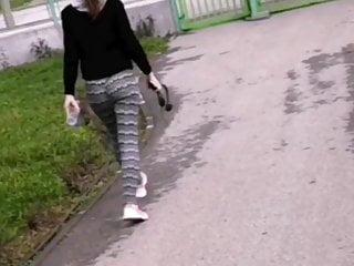Ass after jogging