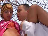 Shaina french arabic fucked in snow