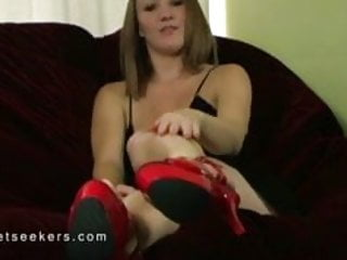 Ayla Sniff My Smelly Feet and Red Stiletto Heels