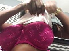 Huge Natural Tits, Tank Top, Lotion