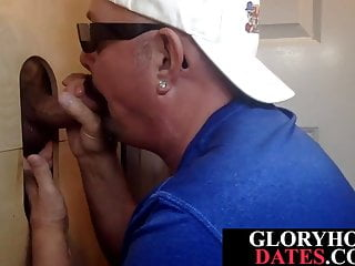 Daddy gloryhole veteran blows cock like a pro...