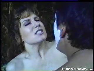 Busty slut gets anal gangbang outdoors...